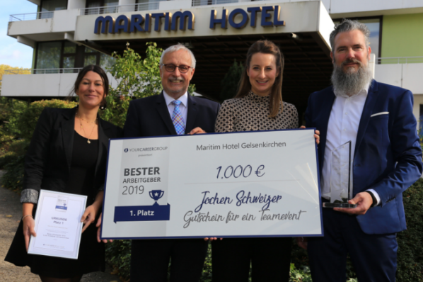 Maritim Hotel Gelsenkirchen ist Deutschlands bester Arbeitgeber in der Hotellerie und Gastronomie 2019