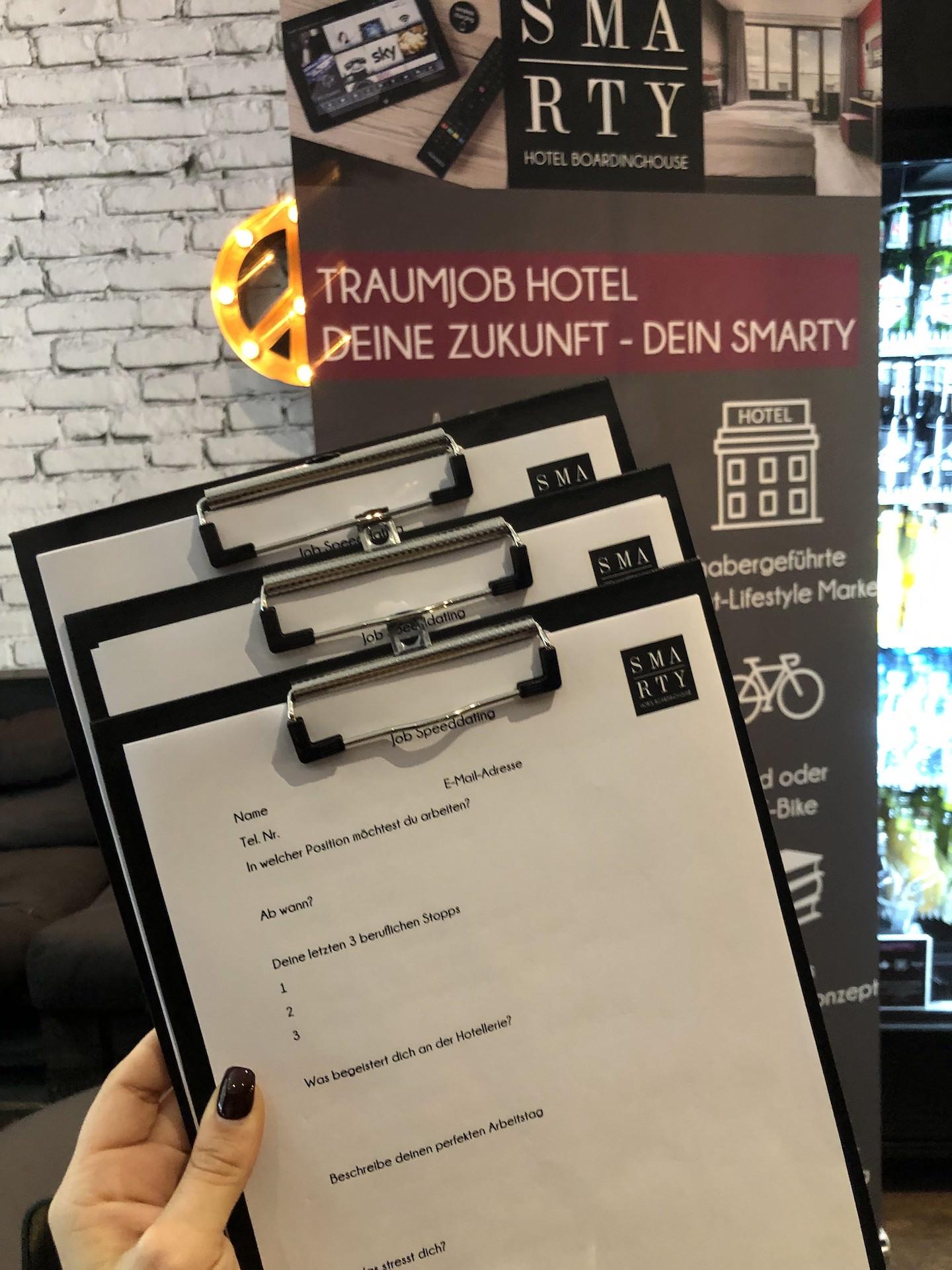 4. Recruitment Day bei SMARTY Hotels | Hostels | Boardinghouses in Köln