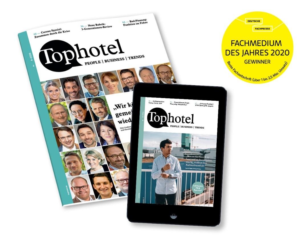 """Wir gratulieren: Tophotel erhält Auszeichnung für """"Beste Fachzeitschrift 2020"""""""